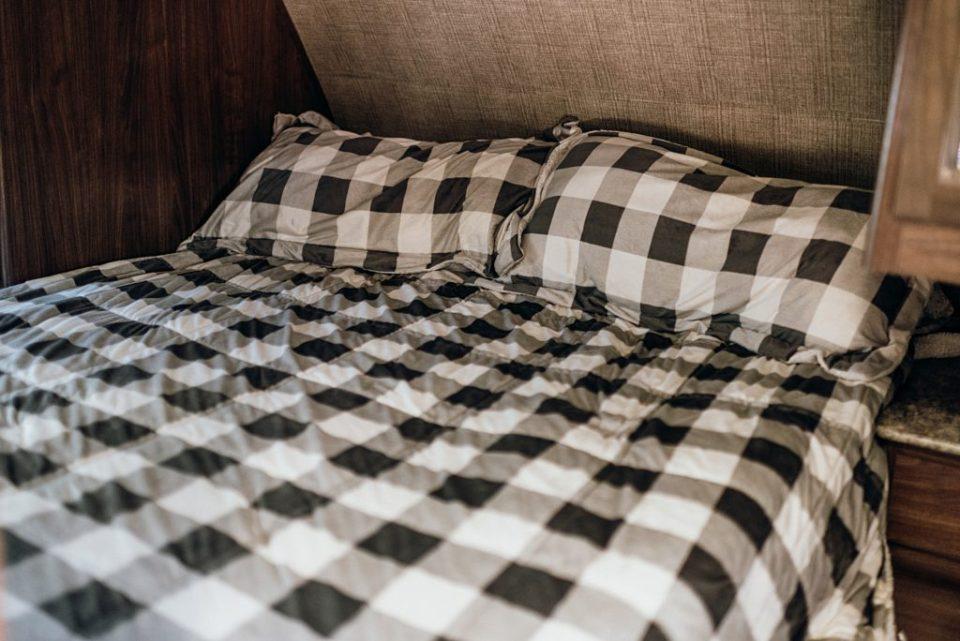 plaid bed comforter for target