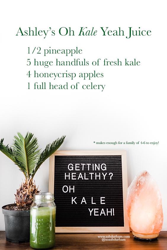 Kale juicing recipe for kids