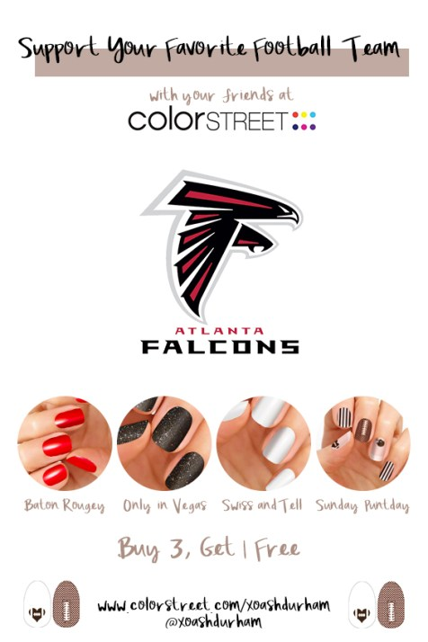 DIY Atlanta Falcons manicure with Color Street