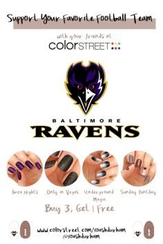 DIY manicure Baltimore Ravens