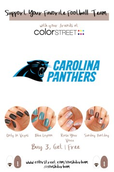Carolina Panthers DIY Manicure with Color Street
