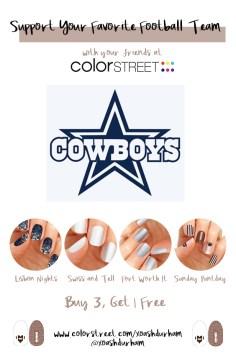 Dallas Cowboys DIY Manicure with Color Street