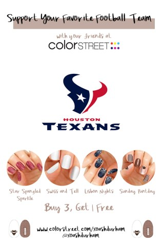 Houston Texans DIY Manicure with Color Street