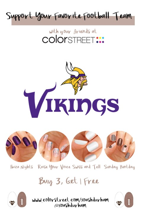 Minnesota Vikings DIY Manicure with Color Street