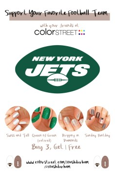 New York Jets DIY Manicure with Color Street