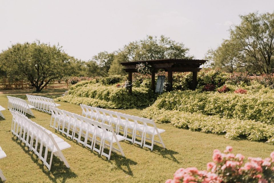 ceremony site at deerfield estates waco texas