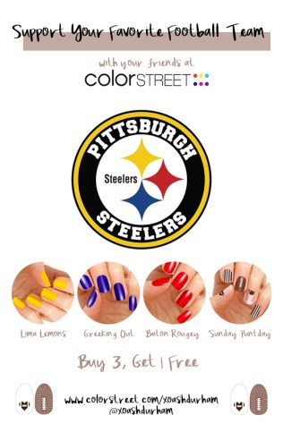 Pittsburgh Steelers DIY Manicure with Color Street