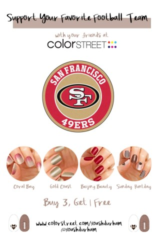 San Francisco 49ers DIY Manicure with Color Street