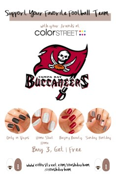 Tampa Bay Buccaneers DIY Manicure with Color Street