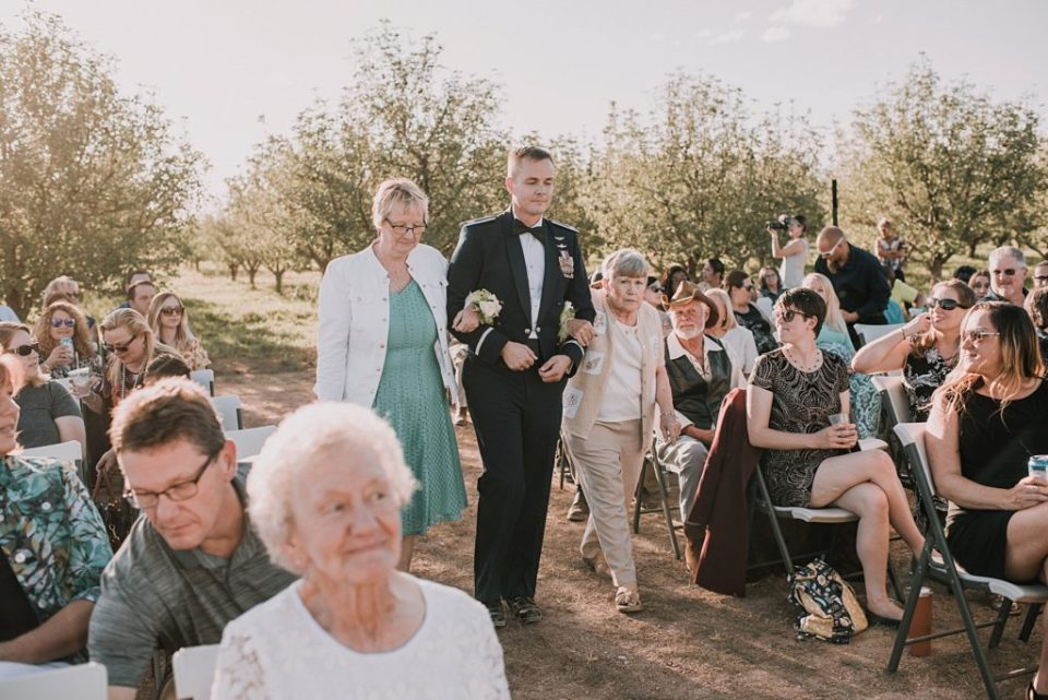 apple orchard wedding ceremony
