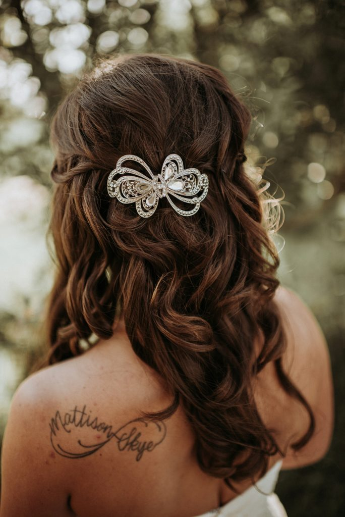 vintage hair clip for bride