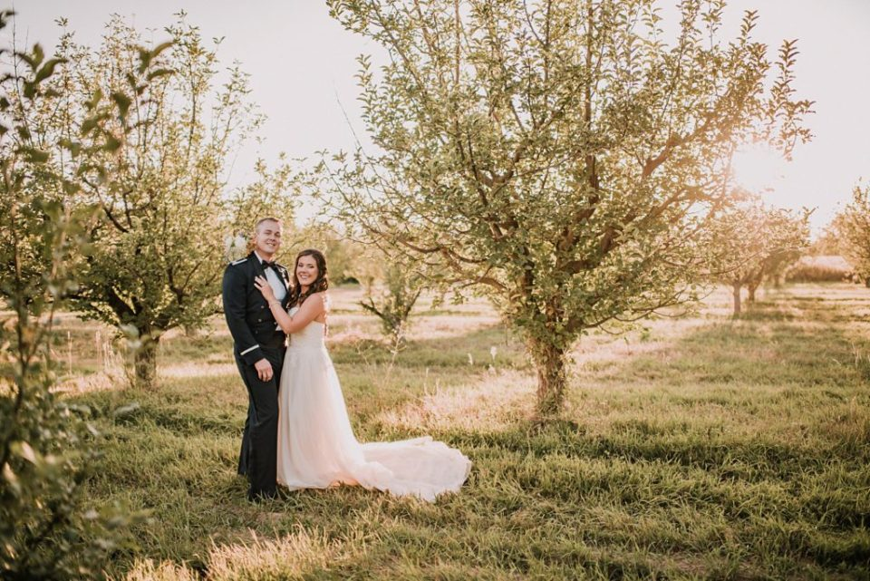 apple orchard wedding portraits