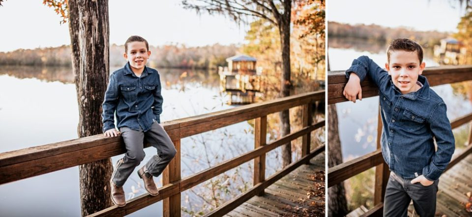 cool 10 year old hanging out by the river