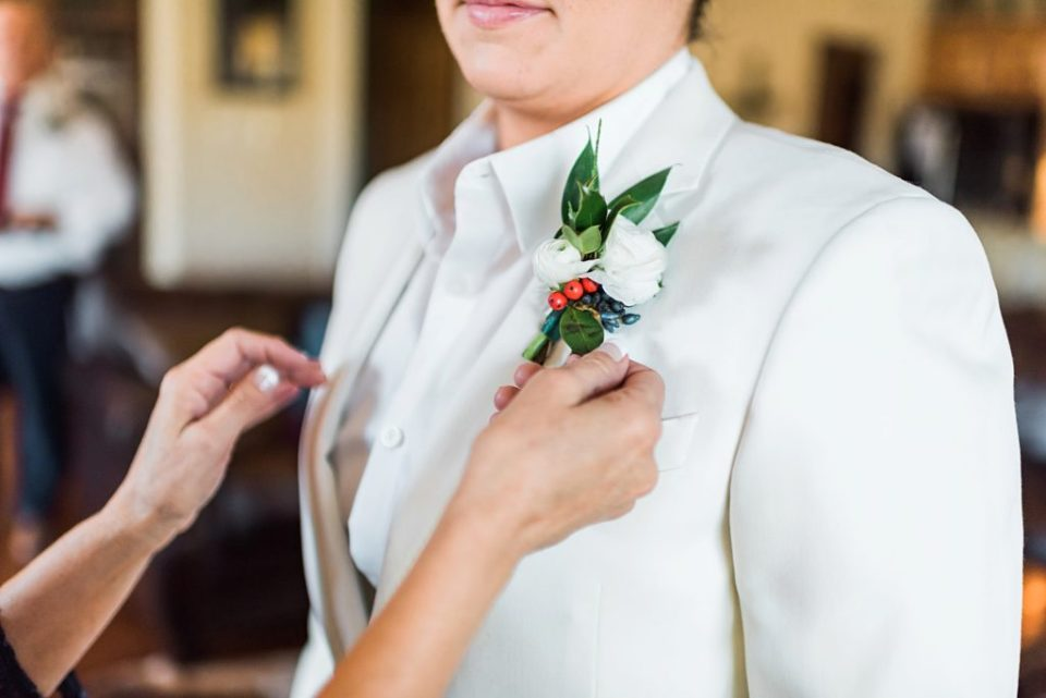 winter wedding inspired boutonniere