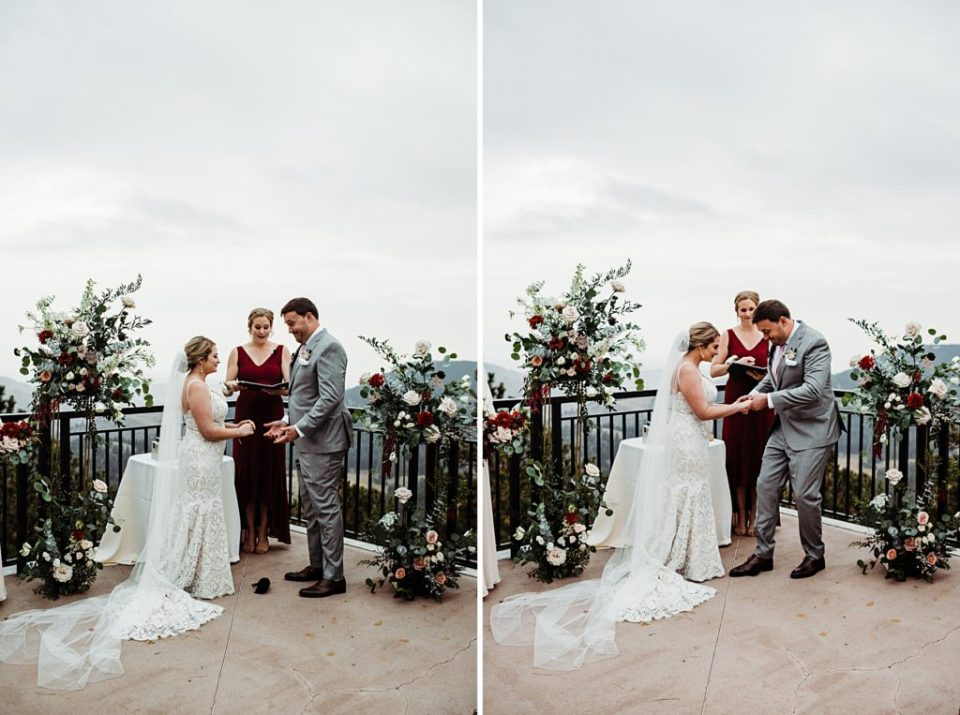 outdoor wedding ceremony at mount vernon country club