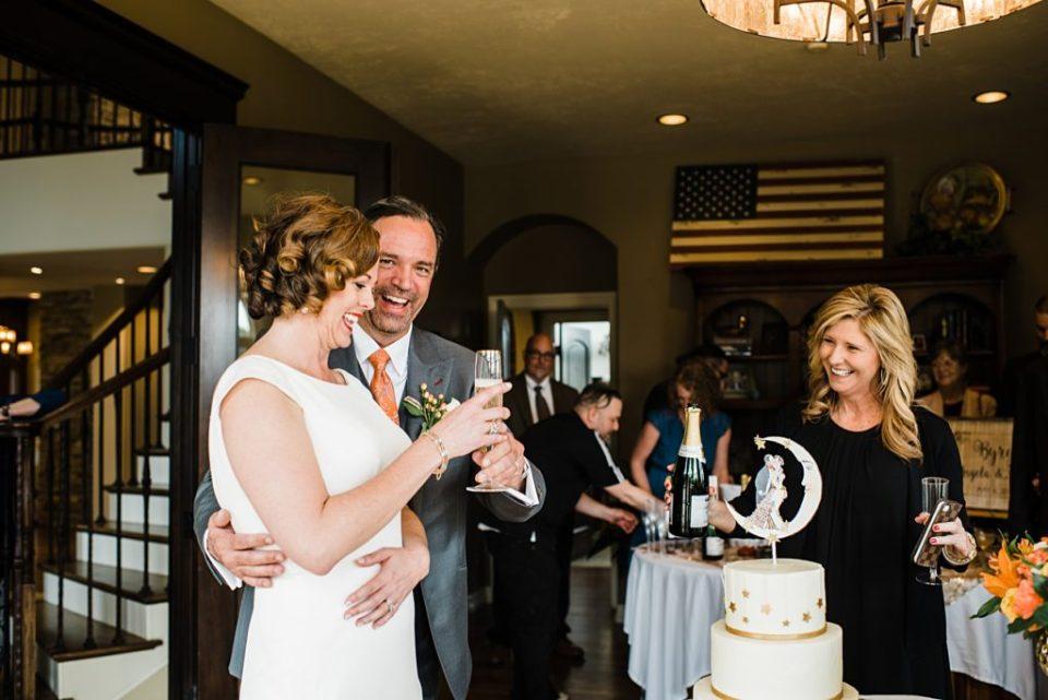 toasts for indoor estate wedding reception
