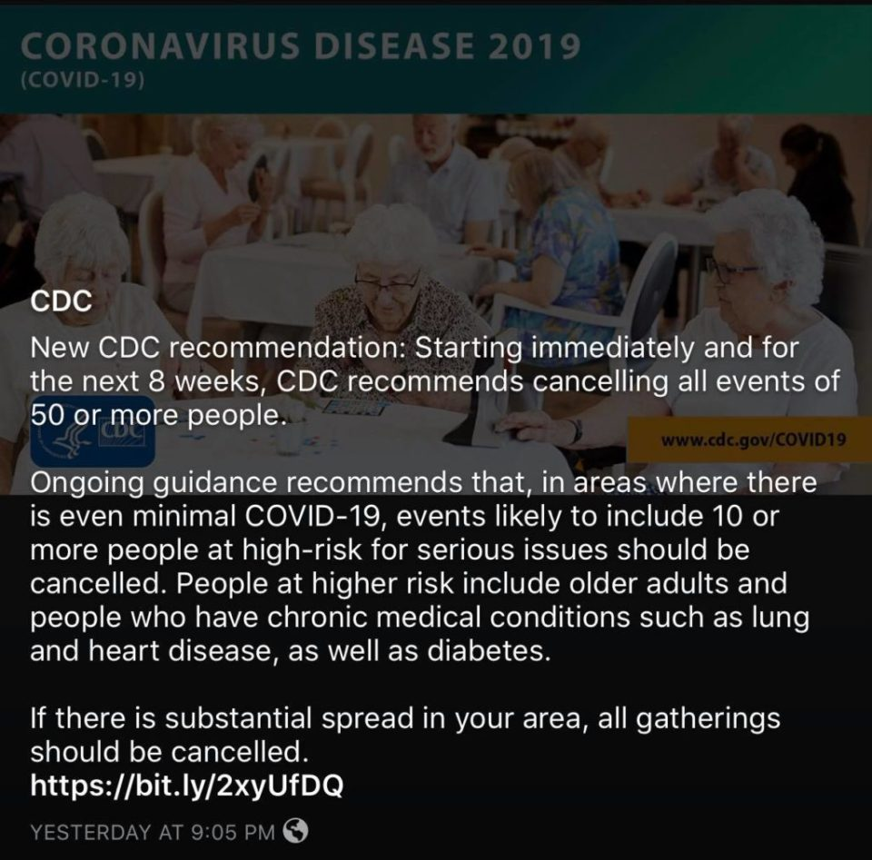 corona virus and the effect on small business