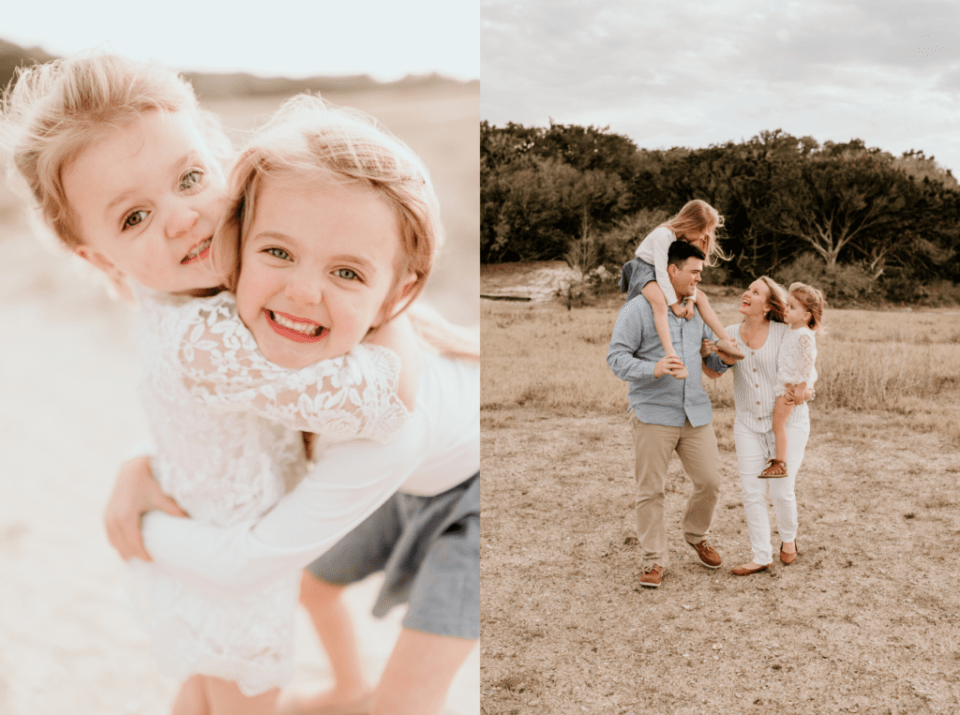 family photos with two toddler girls