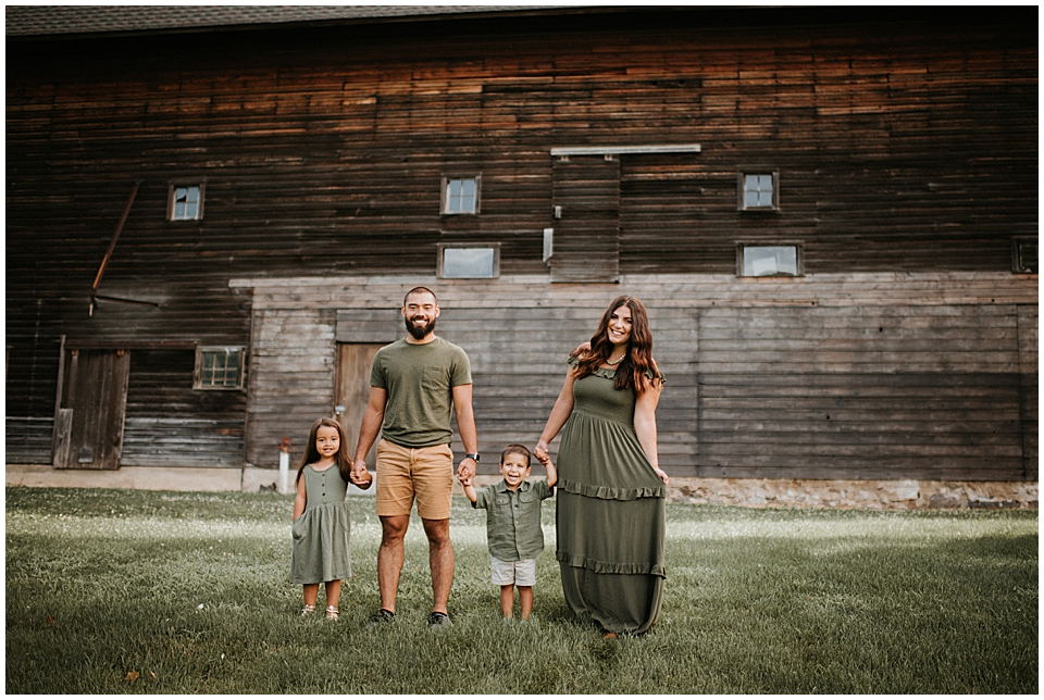 family session at white river county park