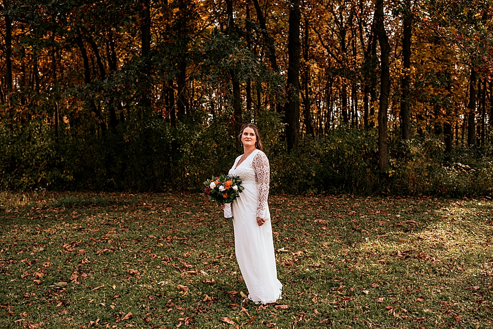 fall wedding in wisconsin bride