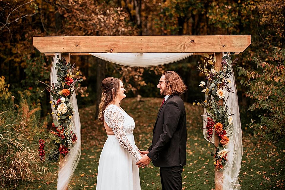 autumn inspired wedding arch