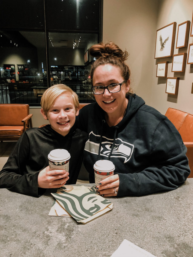 coffee date with noah at starbucks