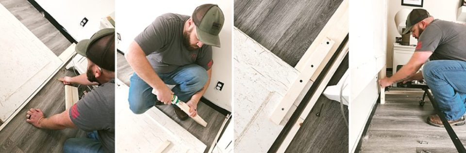 how to make a headboard out of an old door