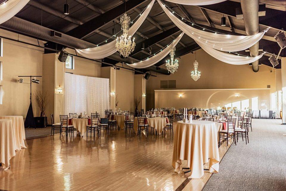 indoor reception at wedgewood black forest wedding