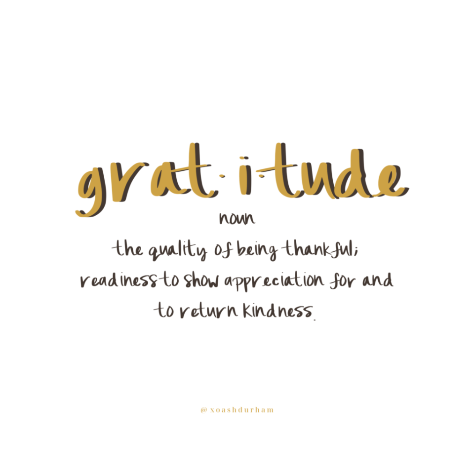 What does gratitude mean