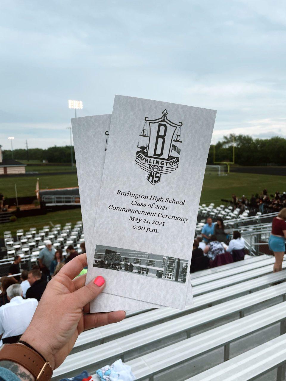 burlington high school graduation class of 2021