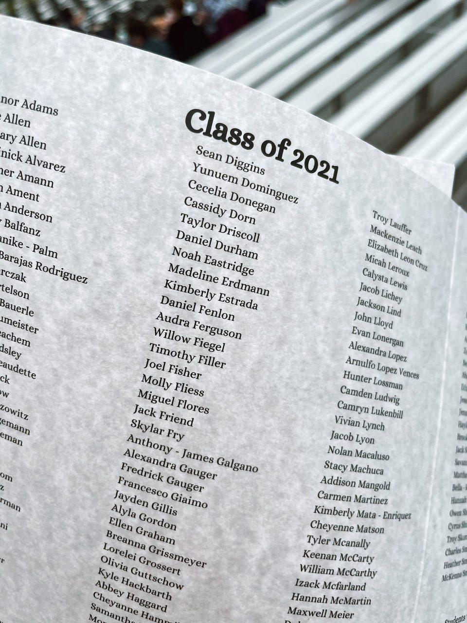 high school graduation program