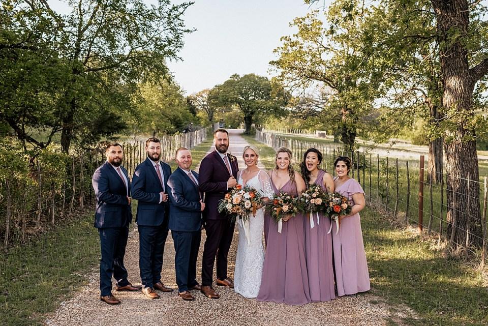 wedding party at weatherford texas wedding at lazy s hacienda