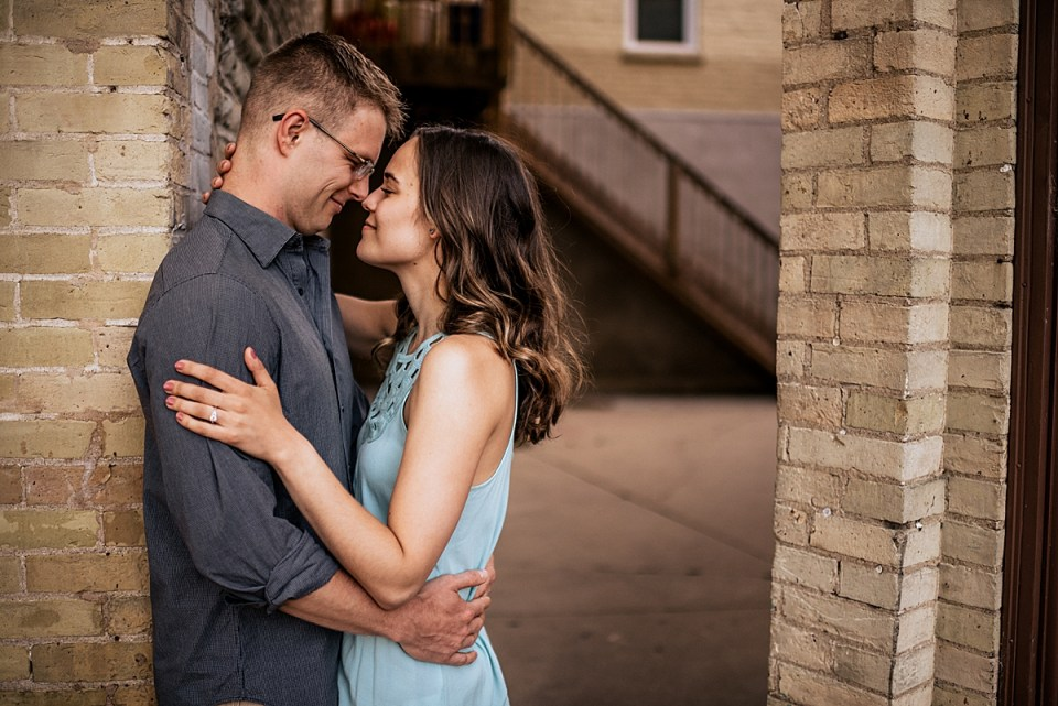 engagement photos at the loop in burlington wi