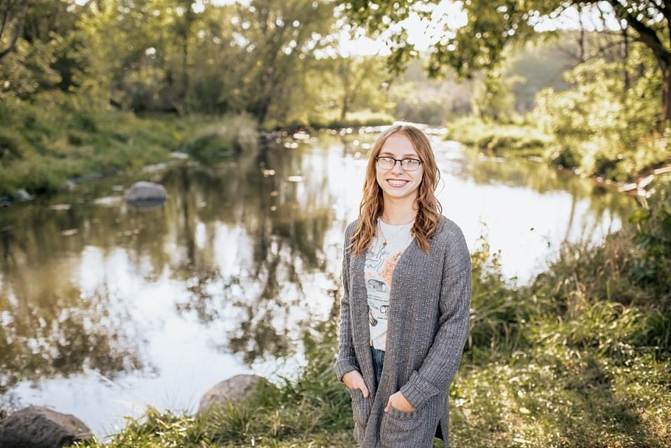 Burlington High School Senior Session at White River County Park - Ashley Durham Photography