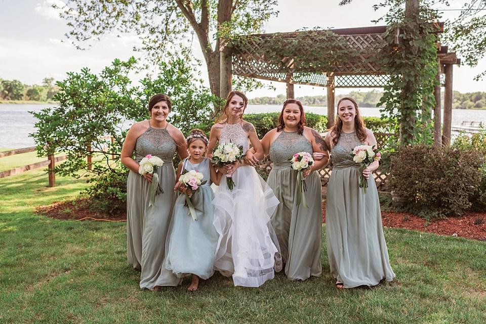 sage green bridal party