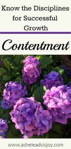 Contentment, will that really help me succeed? How is contentment a discipline? You can learn what it means to be content and grow in knowing God.