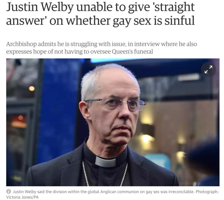 welby gay sex sin