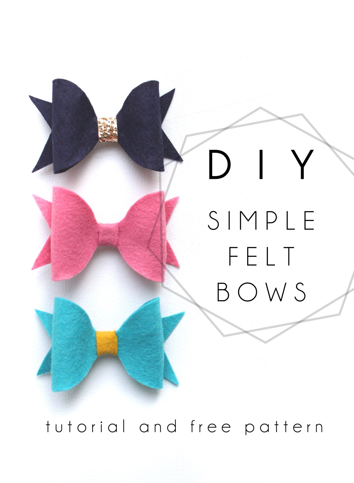 DIY felt bow tutorial with free PDF pattern | ASHES + IVY ...