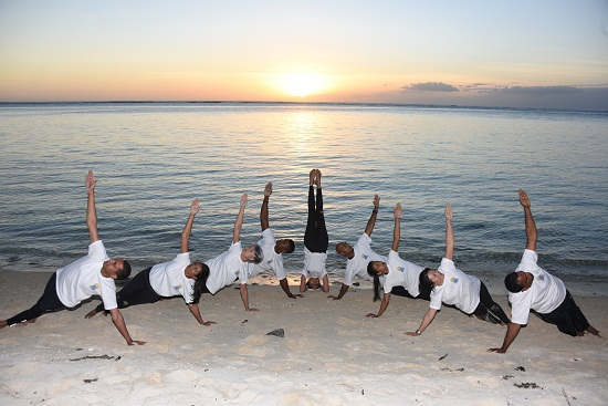 International Yoga Day in Mauritius