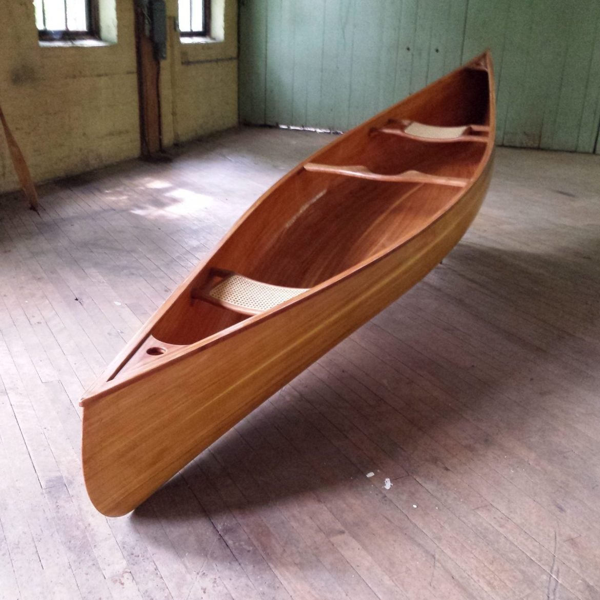 Cedar Strip Canoe from Ashes Still Water Boats