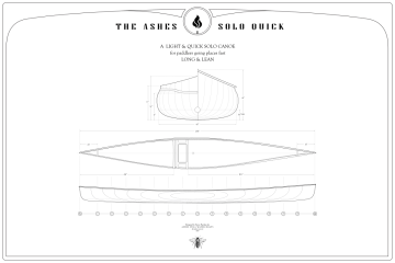 Building Plans for a 16.5' Solo Canoe