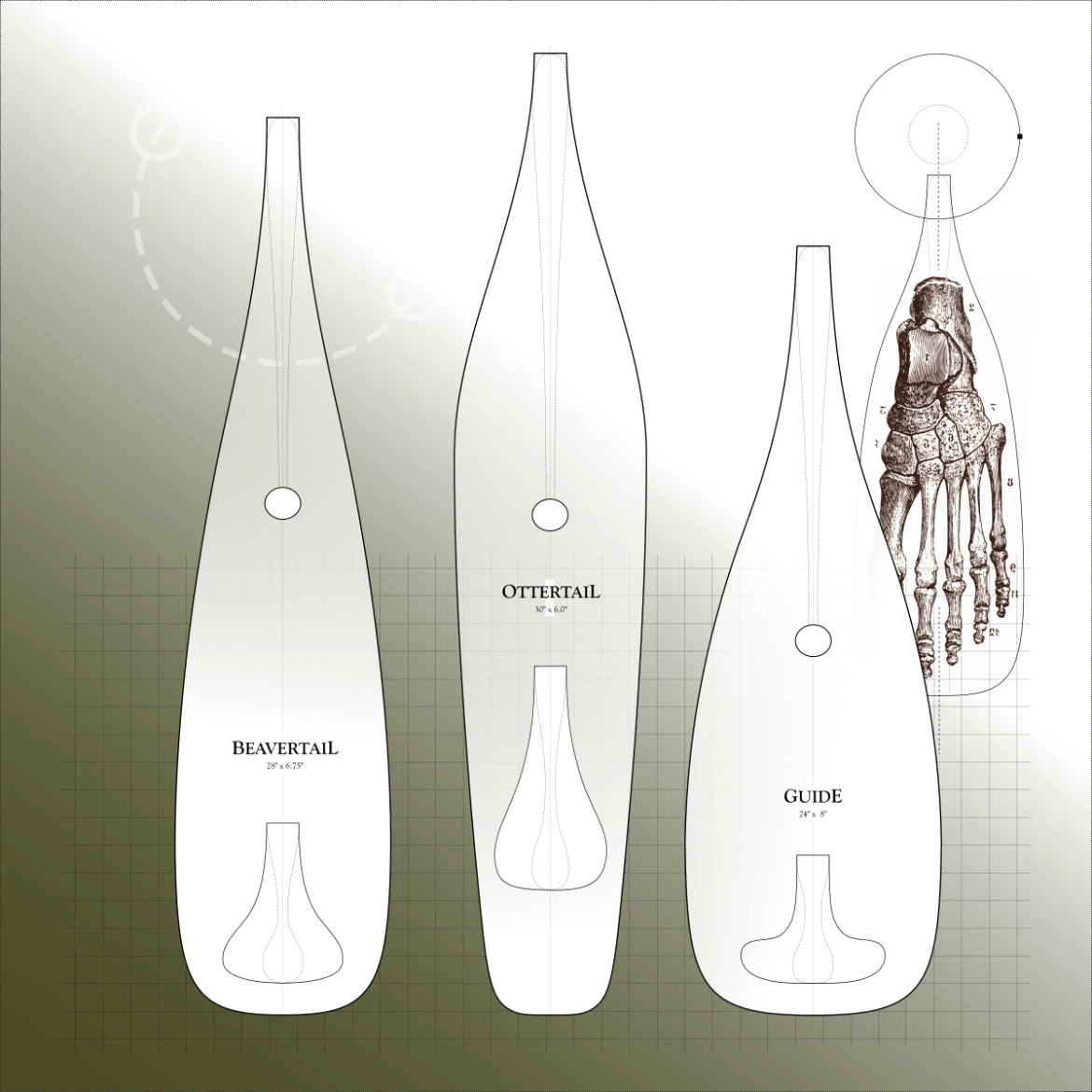Paddle Templates for Making Your Own Canoe Paddle