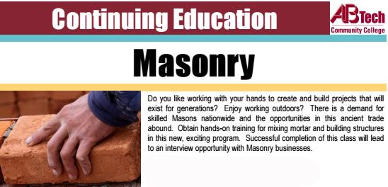 Skilled Trade & Occupational Course – Masonry