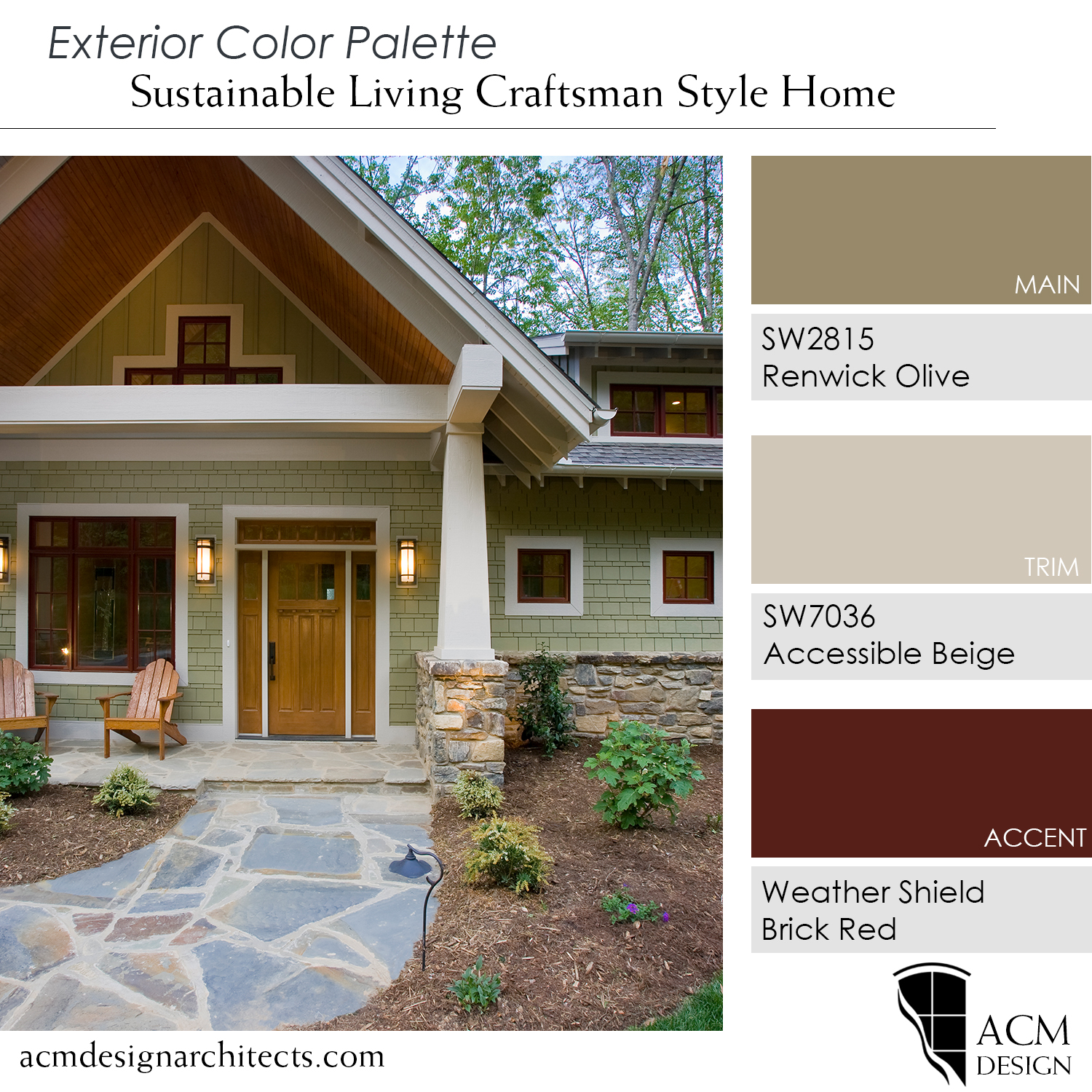 Modern Craftsman Style Home: