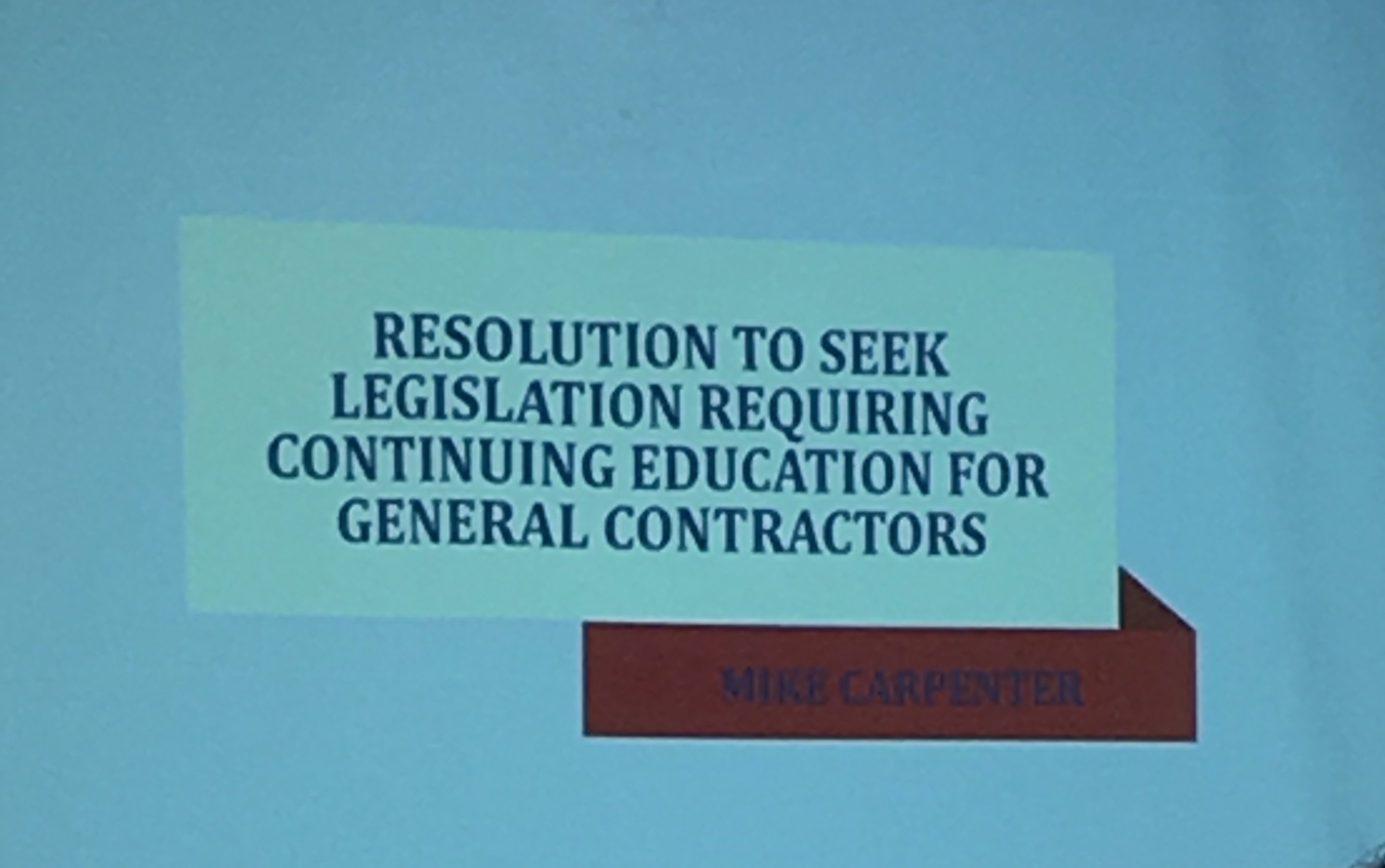 NCHBA Board Votes To Seek Legislation Requiring Mandatory Continuing Education For General Contractors