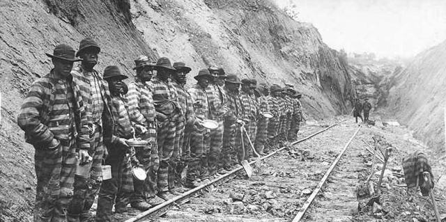 Convict railroad labor