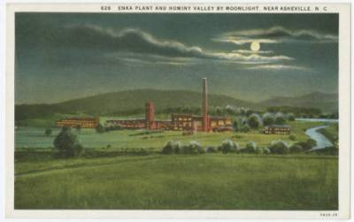 Postcard_Enka_Plant_and_Hominy_Valley_by_Moonlight