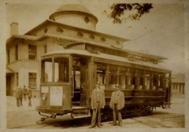 Asbury Whisnant and Henry Thompson, Asheville Depot, Car 18. Collection of Richard and Elaine Whisnant.
