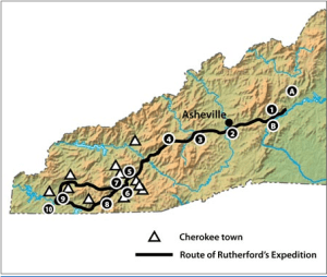 Rutherford Expedition against the Cherokees, September 1776. NCPedia.