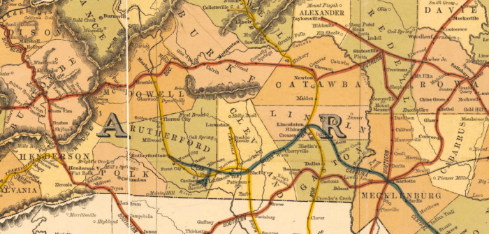 North Carolina Railroad Map, 1900. North Carolina Maps Collection, UNC Chapel Hill.